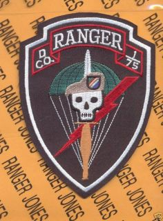 New D Co 1 75 Inf Airborne Ranger Regt Tan Beret Patch