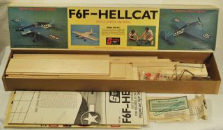 F6F Hellcat Profile Control Line Flying Model Airplane Kit