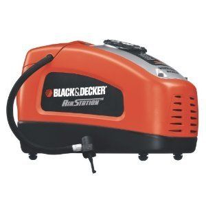 Black Decker Tire Inflator Portable Mini Air Compressor Pump 12 or 110