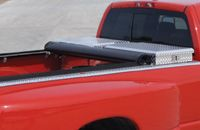 The Access® Toolbox Edition Tonneau Cover quickly and easily rolls up