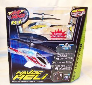 Air Hogs HAVOC HELI Indoor R C Helicopter NEW Remote Control Yellow