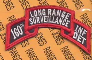 160th Inf DET LRS Airborne Ranger 40 Div Caarng Patch