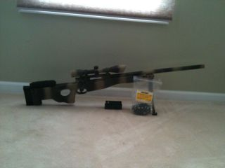 L96 Airsoft Sniper Rifle w/ Custom Camo Paint Job and .32G BBS
