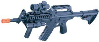 New Air Soft Machine Gun MR733 Military Toy Airsoft Rifle w Flashlight