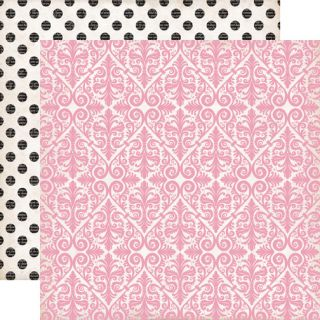 sheets of 12x12 paper in the Echo Park Paper Yours Truly ADORE design