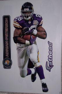 Adrian Peterson Fathead Minnesota Vikings NFL 16x7 Wall Graphic New