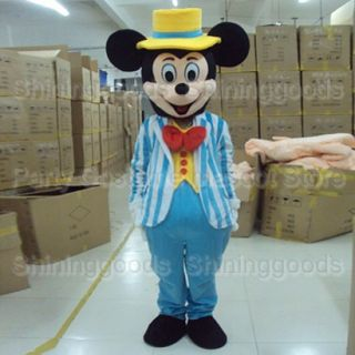 New Style Adult Size Mickey Mouse Costume Mascot Party Costume Fancy