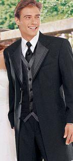 Mens Black After Six Nuvo Tuxedo Jacket Wedding 50R