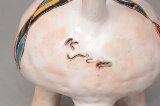 Aharon Kahana Ceramic Small Decorative Vase Israeli Art