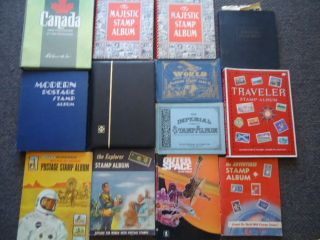 15 Stamp Albums 1000s of US and Worldwide Stamps Pricing Books More