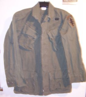 Army Special Forces Airborne Vietnam Tropical Combat Rip Stop Jacket