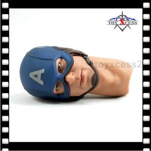 Hot Toys 1/6 CAPTAIN AMERICA Chris Evans HELMETED HEAD SCULPT + NECK