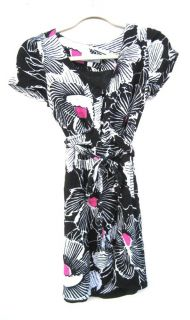 Alice Temperley for Target Womens Black Rayon Patterned Dress Sz 5