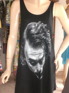 Ladies Womans Movie Pop Rock T Shirt Singlet Vest Mini Dress Free Size