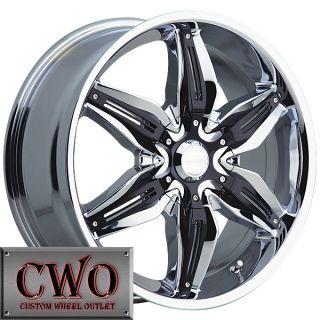 18 Chrome Akuza Rissa Wheels Rims 5x110 5x115 5 Lug Malibu cts DTS