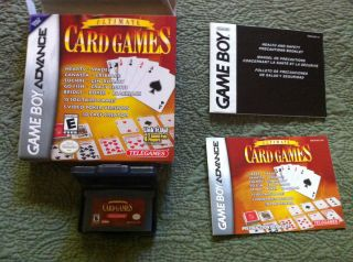 Game Boy Advance Game Ultimate Card Games With all paperwork and