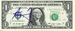 Alexander Ludwig The Hunger Games Signed Dollar Bill