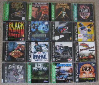 Sony PlayStation 1 Game Lot – Road Rash 3D Tomb Raider Star Wars