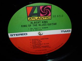 VG LP Albert King King of The Blues Guitar 1969 Atlantic