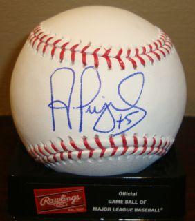 Albert Pujols autographed signed baseball Angels GAI Cardinals auto