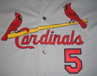 Albert Pujols Game Worn Used Jersey 2002 Cardinals Away Grey