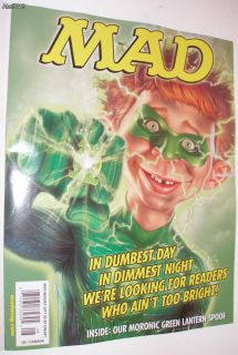 Mad Magazine August 2011 510 Green Lantern Brand New