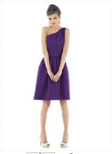 Alfred Sung 530 Bridesmaid Cocktail Dress Majestic 12
