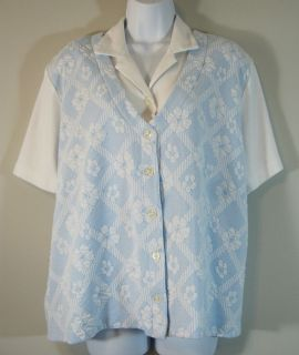 Alfred Dunner Womens Womens Top Blouse Shirt Size XL Extra Large