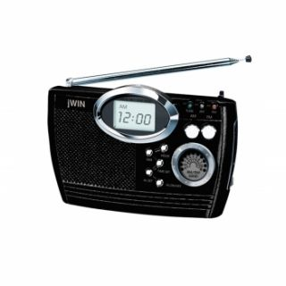 Jwin multi LW SW Band Portable Radio w Alarm Clock