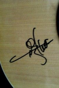 Toby Keith Autograph Signed Copley Guitar Acoustic Natural COA on Body