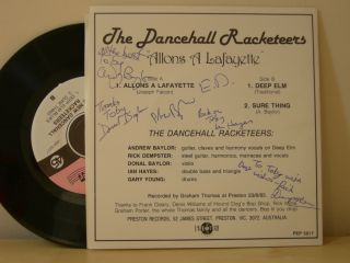 The Original Dancehall Racketeers Allons a Lafayette b/w Deep Elm