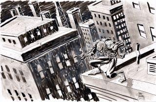 Spider Man Marvel Comics Outsider Original 17 x 11 Art Signed by