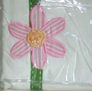 Girls Flower Garden Appliqued Blue Pink Single Quilt Doona