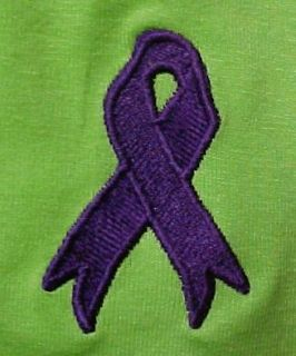 Alzheimers Awareness Purple Ribbon Lime s s T Shirt 2X