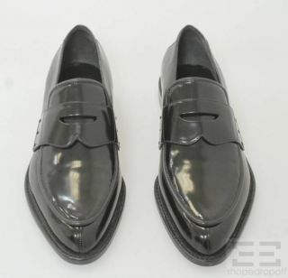 Alexander Wang Black Patent Leather Pointed Loafers Size 40