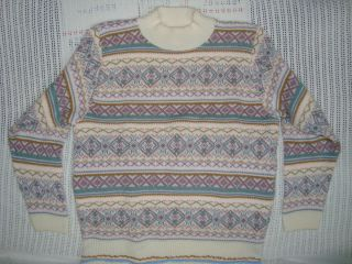Alfred Dunner Multi Colored Sweater Womens Medium M