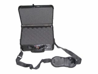 ABS Plastic Aluminum Hard Pistol Gun Case Black Firearm Case