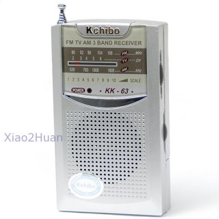Portable Am FM TV 3 Band Pocket Size Radio Receiver New