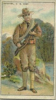 TOBACCO CARD RECRUIT LITTLE CIGARS U S ARMY INFANTRY STANDUP DISPLAY