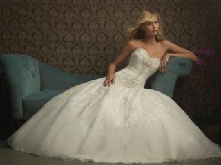 Allure Bridal Gown Style 8769 Color Ivory Silver Size 12