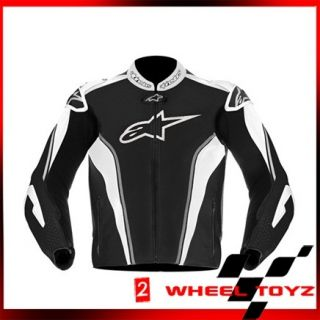 Alpinestars GP Tech Leather Motorcycle Jacket Black Grey White EUR 56
