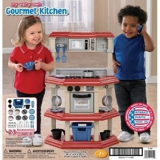 American plastic toys my very own kitchen american plastic toys my very own gourmet kitchen set pretend play w teraionfo
