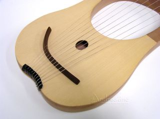 NEW LYRE HARP ~ BIBLICAL KING DAVIDS ~ SOLID SPRUCE w/ TUNING TOOL