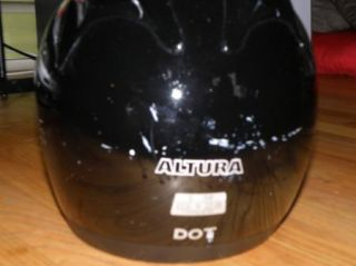 Vega Altura Dot Small Motorcycle Helmet Black Full Face