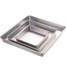 Wilton Aluminum Performance Pans 3 PC Square Cake Baking Pan Set New