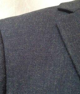 New Mens Andrew Fezza Navy Herringbone Sport Coat Jacket 40R Blazer