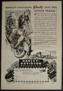 1945 Harley Davidson Motorcycles *Really Take the Rough Trails