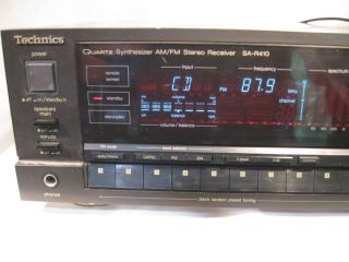 Technics SA R410 Quartz Synthesizer Am FM Stereo Receiver