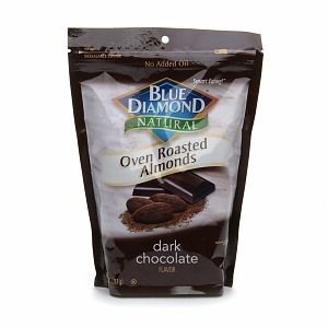 Blue Diamond Natural Oven Roasted Almonds Bag Dark Chocolate 14 oz 397