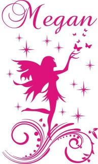 Fairy Name Personal Vinyl Wall Decals Stickers Art 001